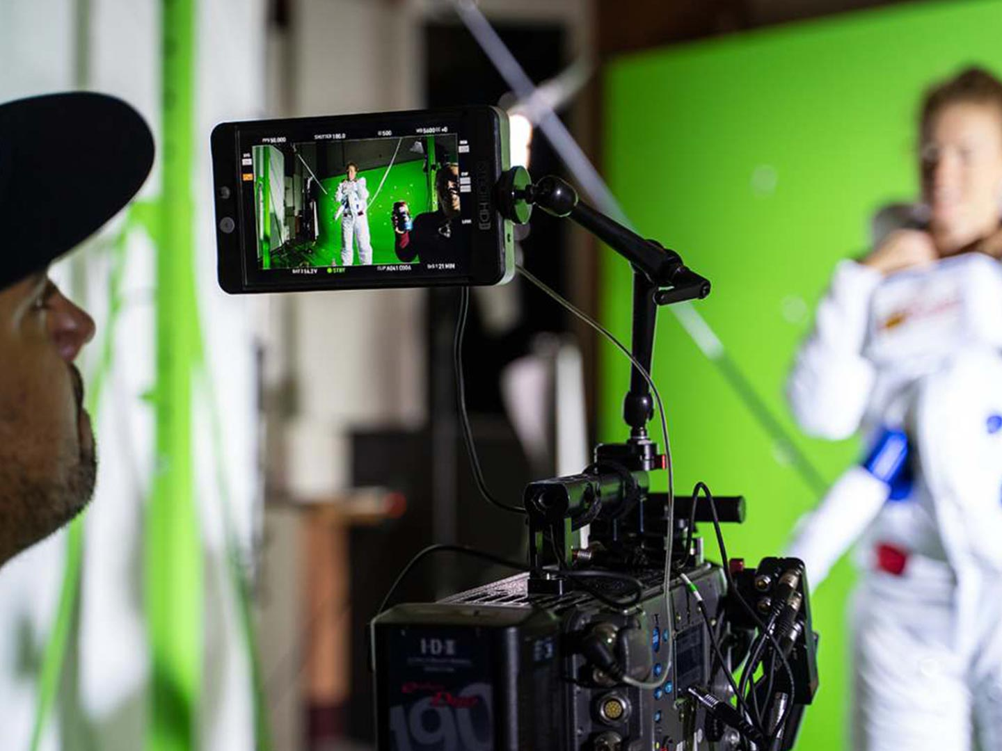 The making of the TVC included building Tasmania's biggest greenscreen.